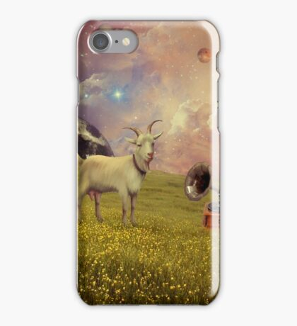 Transdimensional Space Goat iPhone Case/Skin