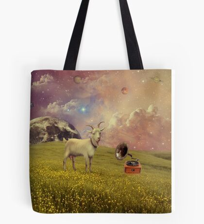 Transdimensional Space Goat Tote Bag