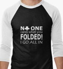 Poker Player Casino T-Shirts Men's Baseball ¾ T-Shirt
