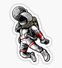 Astronout jam Sticker