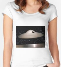 Lost in Space Spaceship Women's Fitted Scoop T-Shirt