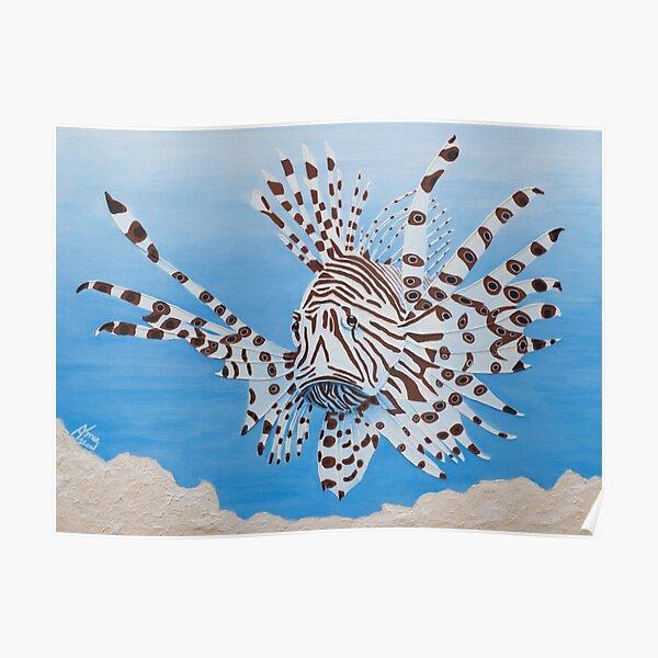 Floyd the Lionfish Poster