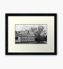 Old Car Dealership Framed Print