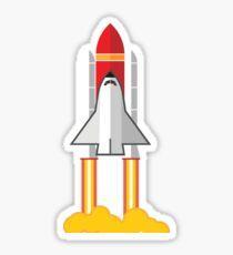 Rocket Space Shuttle Houston Sticker