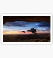 Sabers & Sunset Sticker