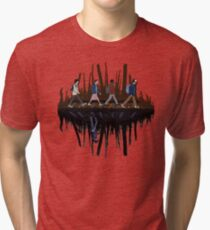 Stranger Abbey Road - Upside down Tri-blend T-Shirt