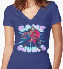 Game Grumps SHOUT Women's Fitted V-Neck T-Shirt