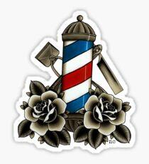 Pegatina La vida de barbero