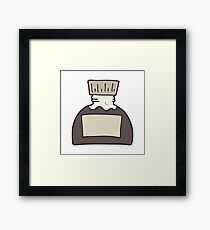 cartoon ink pot Framed Print