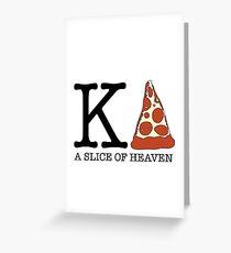 Kappa Delta Pizza Greeting Card