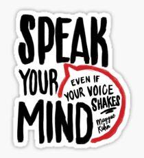 Speak Your Mind - Planned Parenthood Sticker