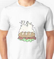 cartoon huge sandwich Unisex T-Shirt