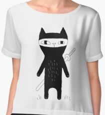 Ninja Cat Chiffon Top