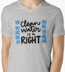 Water - Flint Child Health & Development Fund  Men's V-Neck T-Shirt