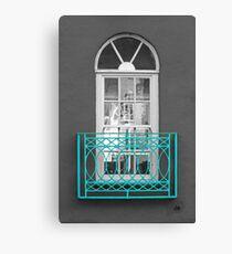 Turquoise Balcony Selective Canvas Print