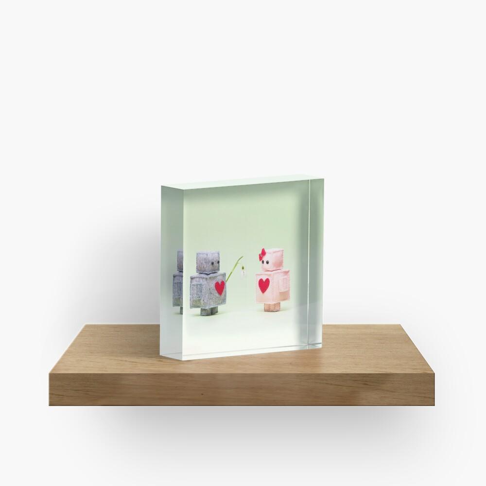 Spring love Acrylic Block