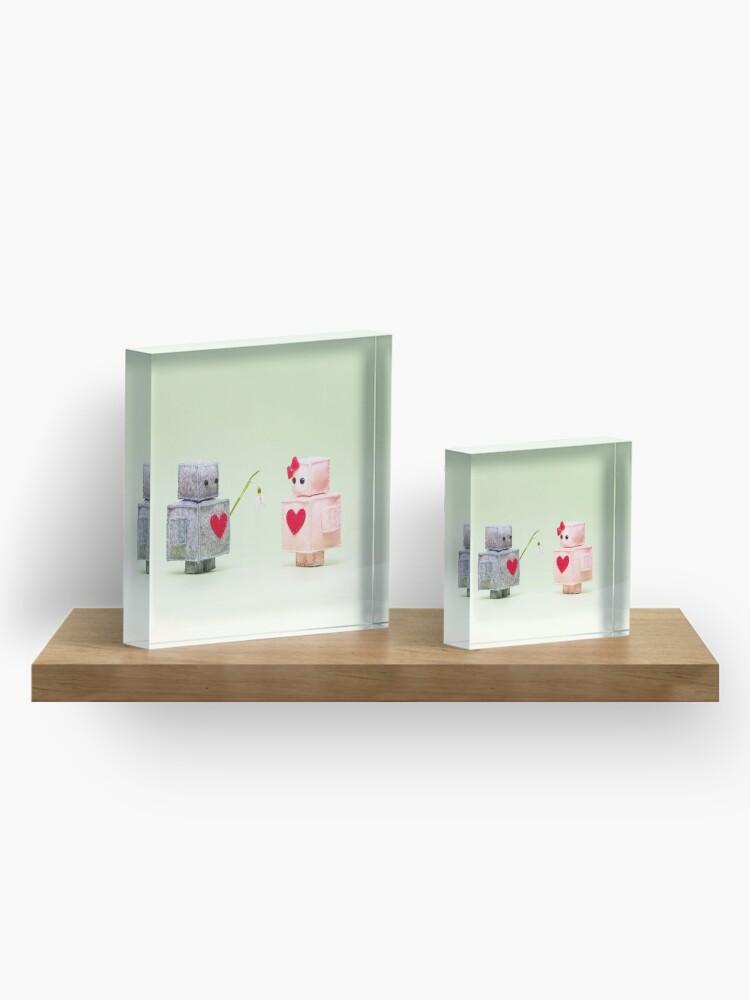 Alternate view of Spring love Acrylic Block