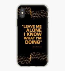 "Kimi Raikkonen  - ""Leave me alone. I know what I'm doing"" iPhone Case"