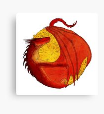 Smaug the Golden Canvas Print
