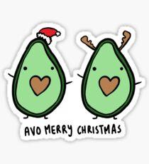 Avocado- Merry Christmas Sticker