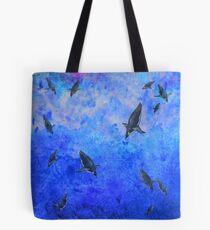 Water Penguins Tote Bag