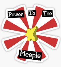 Power To The Meeple Sticker