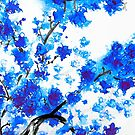 Cherry Blossoms in Blue by Kathie Nichols