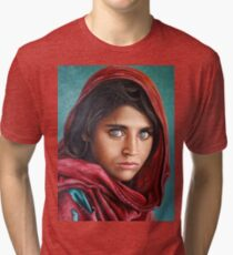 Afghan Girl Tri-blend T-Shirt