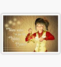 Warm Wishes To You! Sticker