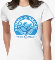 George And Gracie (Cetacean Institute) : Inspired by Star Trek IV : The Voyage Home Women's Fitted T-Shirt