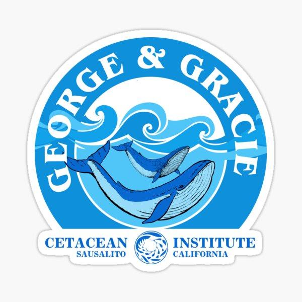 George And Gracie (Institut des Cétacés): Inspiré par Star Trek IV: Le Voyage Accueil Sticker