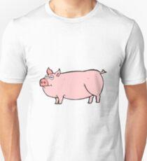 cartoon huge pig Unisex T-Shirt