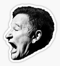 Robin Williams funny scream Sticker