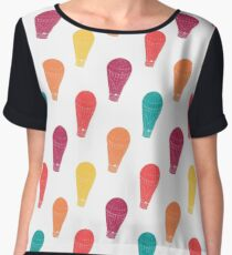Pattern with hot air balloons Chiffon Top