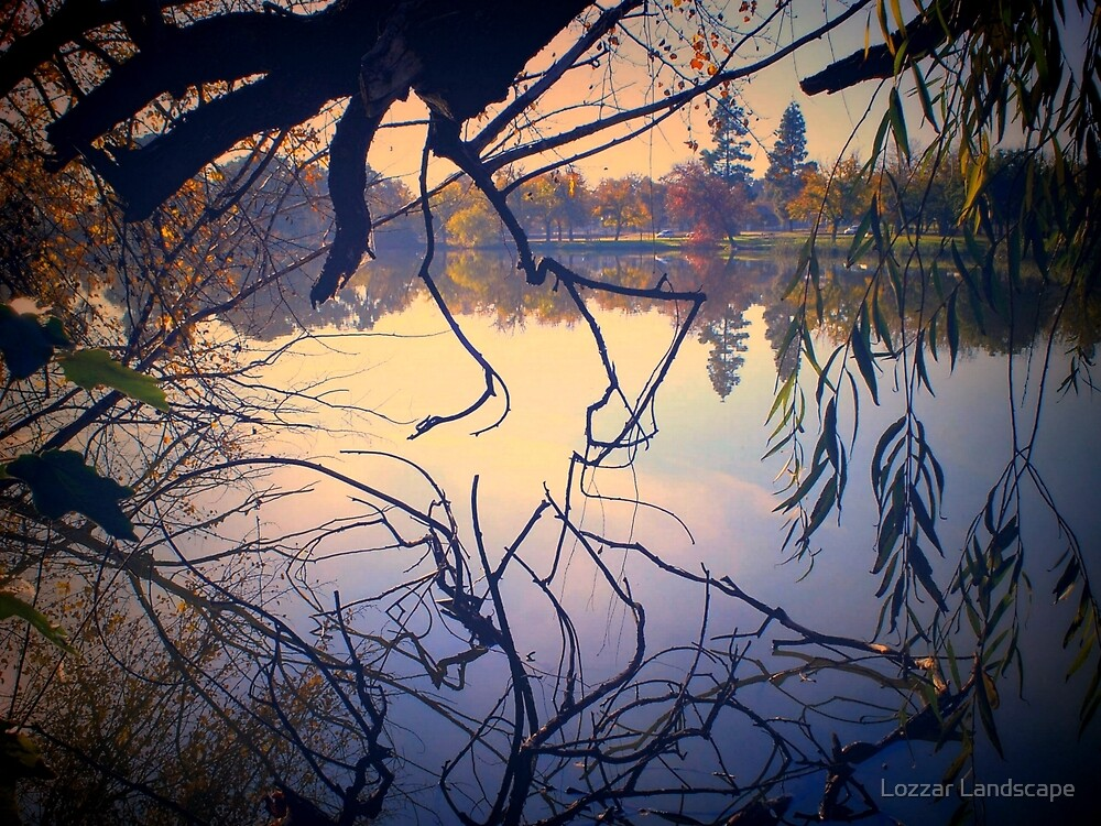 Autumn Tones, Lake Weeroona by Lorraine McCarthy by Lozzar Landscape