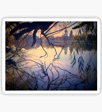 Autumn Tones, Lake Weeroona by Lorraine McCarthy Sticker