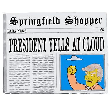 President Trump yells at Cloud by aidanbell