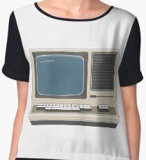 Retro Vintage Computer 80s Electronics Women's Chiffon Top