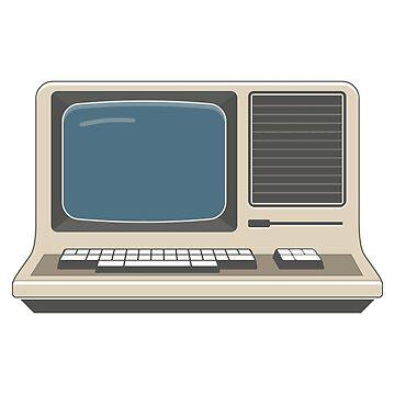 Retro Vintage Computer 80s Electronics by FlorianRodarte