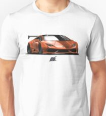 naquash design lamborghini huracan - orange and black top  Unisex T-Shirt