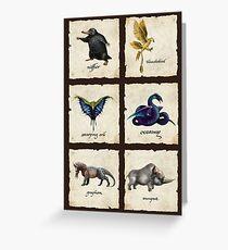Fantastical Creatures Greeting Card