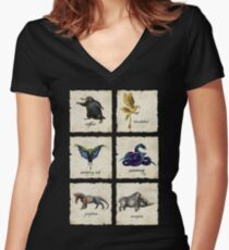 Fantastical Creatures Women's Fitted V-Neck T-Shirt