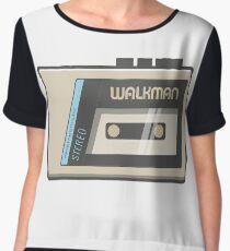 Retro Walkman Music Player 80s Electronics Women's Chiffon Top