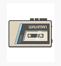 Retro Walkman Music Player 80s Electronics Photographic Print