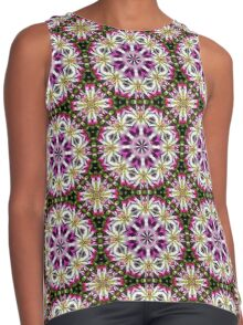 Dahlia Flower Power Abstract Contrast Tank