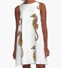 Northern Seahorse (Hippocampus hudsonius)  A-Line Dress