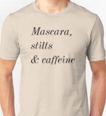 Mascara, stilts & caffeine T-shirt. Limited edition design! T-shirt. Limited edition design! T-Shirt