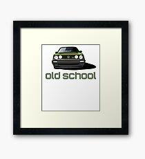 Old School Golf GTI  Framed Print