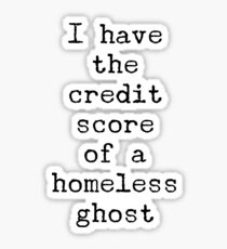 Credit Score Sticker