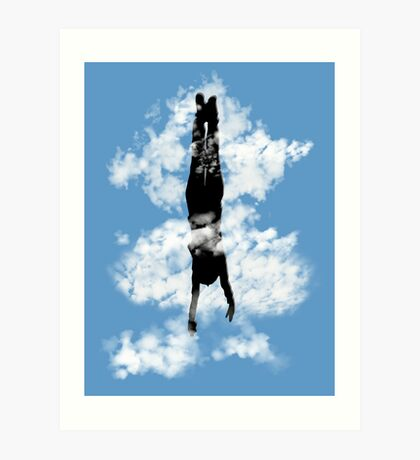 Free style down from the sky... Art Print